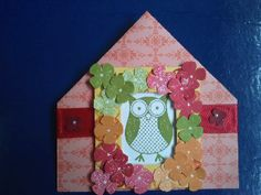 Corner Bookmark made using stampin up papers, inks and ribbon.