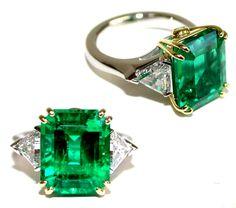 Custom Emerald and Diamond Ring