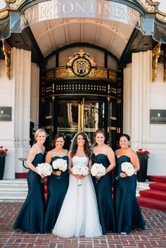 Bridesmaids: http://www.stylemepretty.com/california-weddings/san-francisco/2015/03/24/elegant-fall-san-francisco-wedding/   Photography: Ken Kienow - http://www.kenkienow.com/