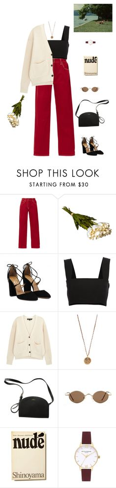 """""""I love you so."""" by greciapaola ❤ liked on Polyvore featuring TradeMark, Crate and Barrel, Yves Saint Laurent, Proenza Schouler, Native Gem, A.P.C. and Olivia Burton"""