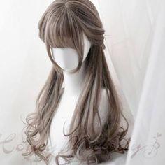 Pelo Lolita, Lolita Hair, Kawaii Hairstyles, Pretty Hairstyles, Braided Hairstyles, Kawaii Wigs, Light Purple Hair, Cute Hair Colors, Cosplay Hair
