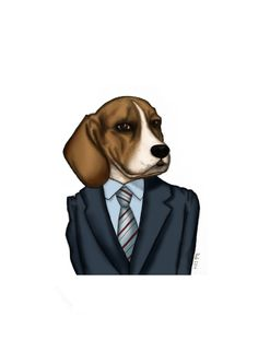 Lucas on Clothes #beagle #lovemybeagle #illustration