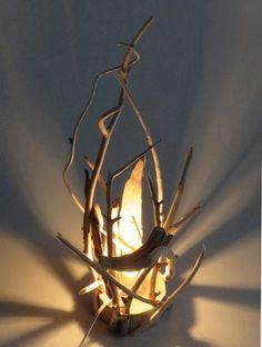 流木アートインテリア フロアランプ R0704 高さ53cm ★おしゃれなレア一点物 オブジェ風 ディスプレィに最適  流木アートのアトリエ 【 SALON1170 】                                                                                                                                                      もっと見る
