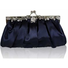 Navy Blue Satin Clutch Bag Evening Bag (404) (317.445 IDR) ❤ liked on Polyvore featuring bags, handbags, clutches, blue purse, evening handbags, evening bags, blue bag and blue evening bag