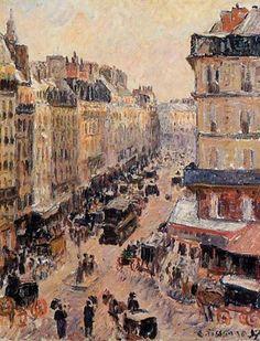 Rue Saint Lazare - Camille Pissarro