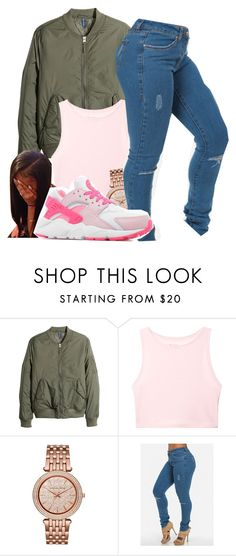 """"" by dajvuuloaf ❤ liked on Polyvore featuring H&M, Victoria's Secret and Michael Kors"
