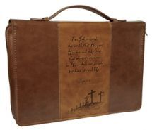 For God So Loved the World Bible Cover, Brown, Medium