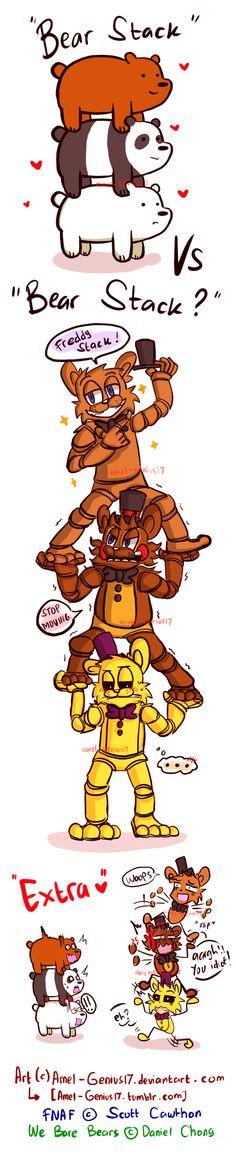 =FNAF/WBB= Bear Stack vs Bear stack?!! (doodle) by Amel-Genius17.deviantart.com on @DeviantArt