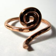 copper ring blank for lampwork beads