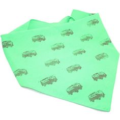 Green Stamped Dog Bandana