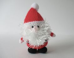 Father Christmas toy knitting pattern by fluffandfuzz on Etsy