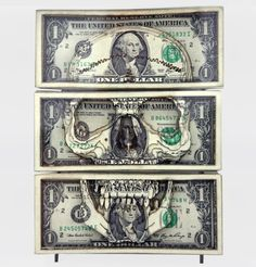 Laser cut dollars. I wouldn't want to cut cash but interesting concept.