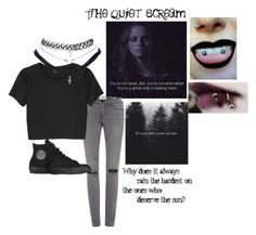 """""""."""" by gilinsky-is-bae ❤ liked on Polyvore featuring Frame Denim, Monki, Wet Seal and Converse"""