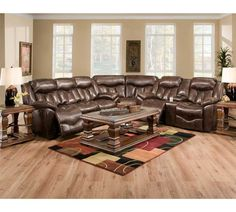 Franklin Furniture   Hendrix Sectional Set In Duke Tobacco   564  SEC