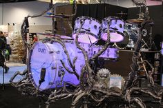 Beautifully unusual drum kit from Crush NAMM 2014 #drums #drummers #music