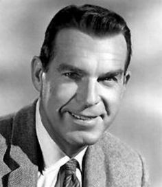 """Fred MacMurray (1908 - 1991) Starred as Steve Douglas in the TV series """"My Three Sons"""", also had a long movie career"""