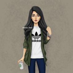 Image may contain: 1 person Girly M, Girly Girl, Cute Girl Drawing, Cartoon Girl Drawing, Girl Cartoon, Cartoon Art, Best Friend Drawings, Girly Drawings, Sarra Art