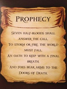 percy jackson the prophecy of seven | The Second Great Prophecy from PJatO by Artemis015 on deviantART