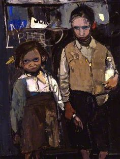 Brother and Sister by Joan Kathleen Harding Eardley Date painted: 1955 Oil on canvas, x cm Collection: Aberdeen Art Gallery Museums Portrait Art, Portraits, Aberdeen Art Gallery, Glasgow School Of Art, Art Uk, Art Plastique, Your Paintings, Figure Painting, Contemporary Paintings