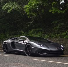 Lamborghini Aventador Super Veloce Roadster painted in Grigio Photo taken by: @harrisonkcars on Instagram (@elliejemmett on Instagram, her father, is the owner of the car) #FastCars