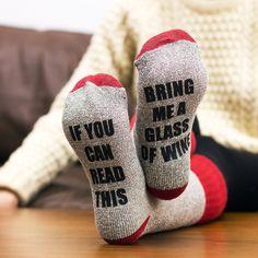 Bring Me Wine Socks