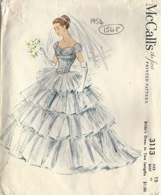 wedding gown patterns mccalls s wedding dress pattern Wedding Dress Patterns, Vintage Dress Patterns, Wedding Dress Sizes, Wedding Bride, Wedding Gowns, Bridal Gown, Vintage Outfits, Vintage Fashion, Boho Fashion