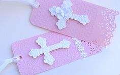Scrapbook Y Más: Cajitas / Recordatorios Primera Comunión First Communion Cards, First Holy Communion, Card Patterns, Fabric Scraps, Small Gifts, Christening, Pink And Gold, Gift Tags, Party Favors
