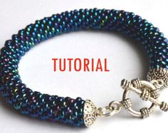 Beaded crochet rope tutorial / detailed instructions for finishing with Bead Caps and Clasp