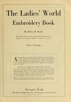 The Ladies' world embroidery book