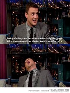 Jason Segel on The Muppets…he's too amazing ❤