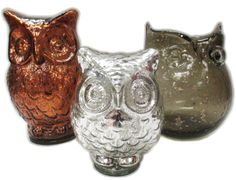 Art glass owl vase & two figurines. #goodwill #shopgoodwill #retro #auction
