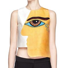 SALE to CLEAN OUT: Cubism eye printed top sleeveless di Chicatory