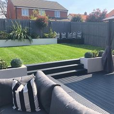 Absolutely in LOVE with garden - theideas - Modern Garden Design Back Garden Landscaping, Backyard Patio Designs, Garden Makeover, Backyard Makeover, Contemporary Garden Design, Landscape Design, Garden Modern, Modern Design, Garden Deco