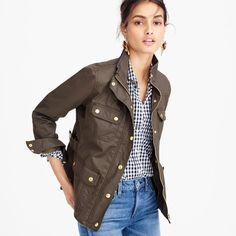 I actually already have this. One of my favs! The downtown field jacket J Crew Outfits, Fall Outfits, Casual Outfits, Pijamas Women, Coats For Women, Clothes For Women, Quoi Porter, J Crew Style, Christian Dior