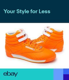 Reebok Women Shoes Freestyle HI top 32-953315 Orange f1216c7a1