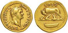 NumisBids: Nomisma Spa Auction 50, Lot 27 : ROMA IMPERO Domiziano (81-96) Aureo – Testa laureata a d. – R/...