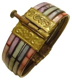 Dyed Mother-of-Pearl Pin Bangle