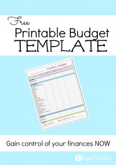 Do you need to gain control of your finances? Use our FREE printable monthly budget template to start saving some extra cash each month and find out where you are really sending your money.