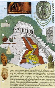Maya (the Temple of the Inscriptions at the archeological site of Palenque showing the tomb of Pakal the Great)