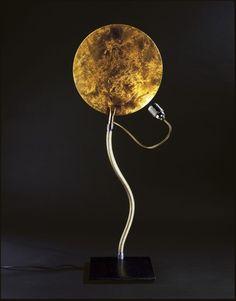 lampička sedačka  Catellani & Smith Luce d'Oro Tavolo gold leaf
