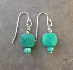 Green Moss Opal and Sterling Silver by EastVillageJewelry on Etsy