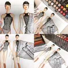 Stripes Swimsuit | design & Illustration by Paul Keng