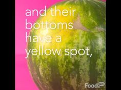 How do you know if a watermelon is ripe and juicy? Try this quick tip.