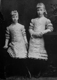 Their Highnesses Princess Marie Louise (1872-1956), right, and Princess Helena Victoria (1870-1948) of Schleswig-Holstein-Sonderburg-Augustenburg