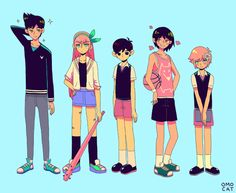 OMOCAT · revised height chart for omori that i had too much...