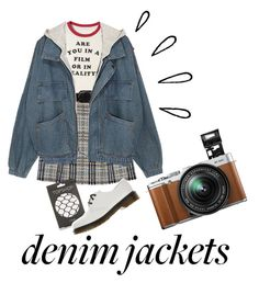 """""""Just For One Day"""" by elanorbrooke on Polyvore featuring Old Navy, Burberry, Orciani, Topshop, Dr. Martens and Fujifilm"""
