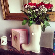 Welly Vase - quirky flower vase - vintage home ideas