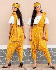 dhoti saree / dhoti saree _ dhoti saree style _ dhoti saree how to wear _ dhoti saree anamika khanna _ dhoti saree wedding _ dhoti saree style indian weddings _ dhoti saree style how to wear _ dhoti saree sonam kapoor Indian Fashion Dresses, Dress Indian Style, Indian Designer Outfits, Indian Outfits, Indian Clothes, Saree Wearing Styles, Saree Styles, Indian Attire, Indian Wear