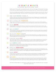 MEGA PLAN: 10 Simple Habits to Change your Life