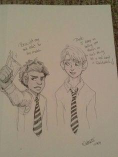 HP Doodles Just Because I Kinda Wonder If Dean Ever Brings Up